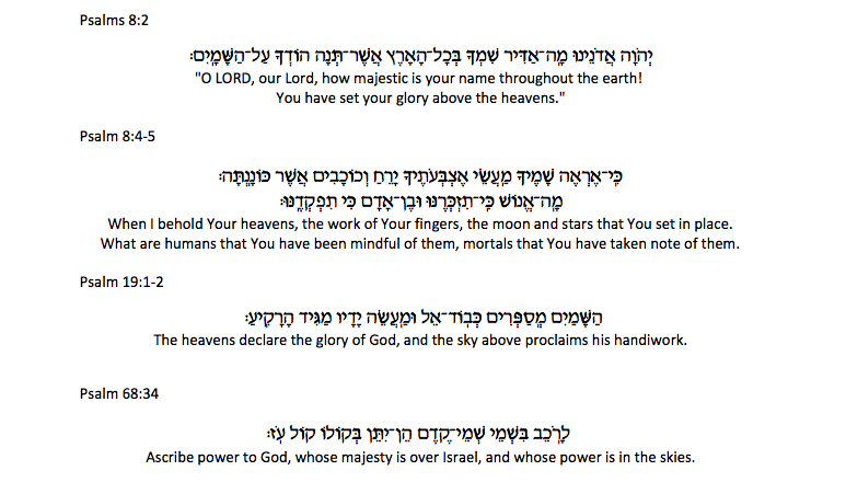 Beyond brachot, it is also appropriate to recite verses from Psalms, such as: