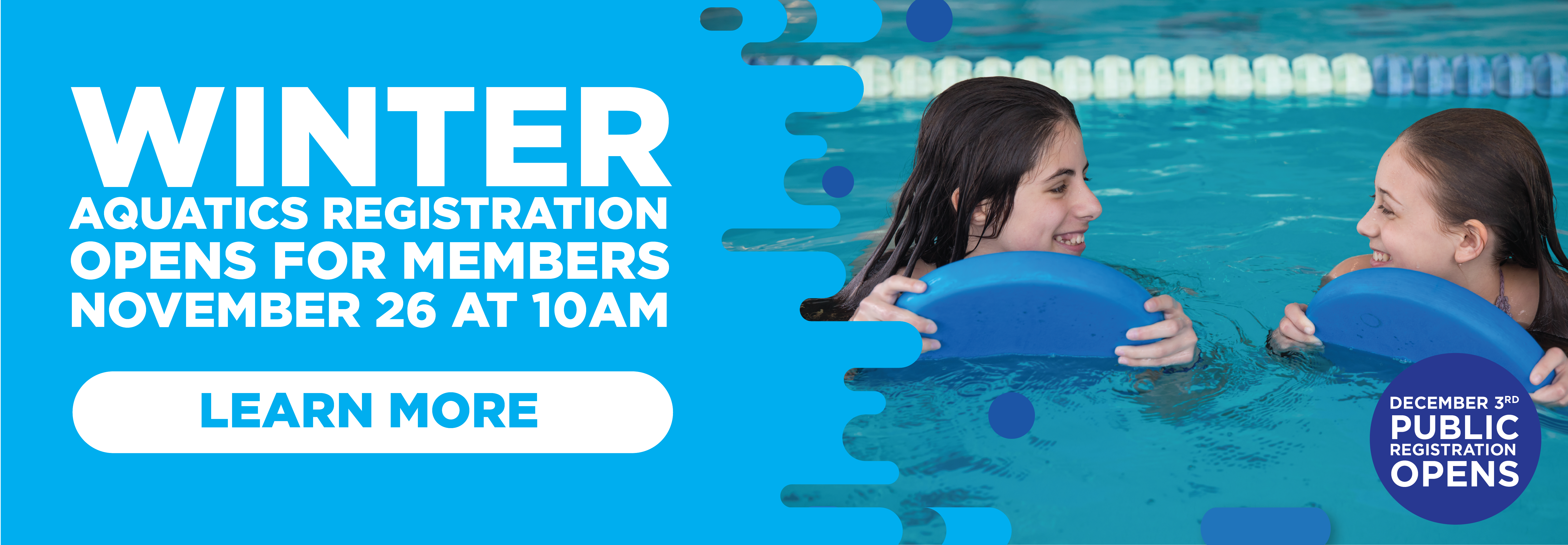 Aquatics Registration Opens for Member Nov. 26