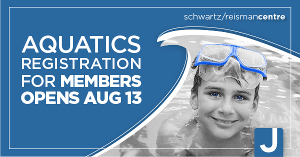 Aquatics Registration opens August 13 for members