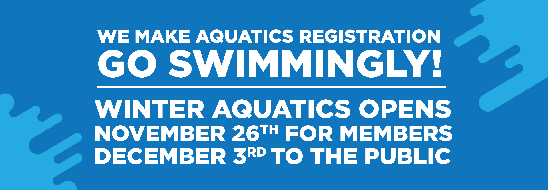 Winter 2018 Aquatics Registration